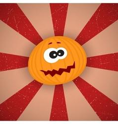 Funny Cartoon Pumpkin vector image