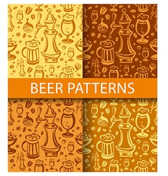 Beer pattern vector