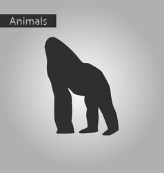 black and white style icon of gorilla vector image vector image