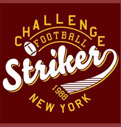 Challenge football vector