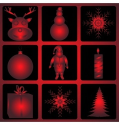 Christmas and Halloween icon set vector image vector image
