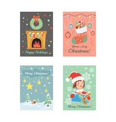 Christmas cards 8 vector