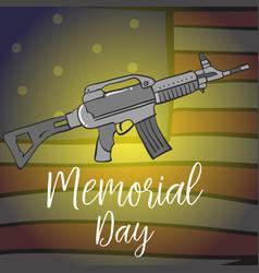 Collection stock memorial day design vector