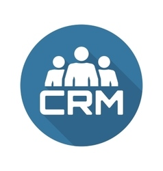 Crm system icon flat design vector