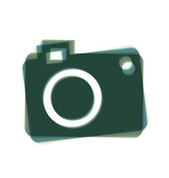 digital camera sign colorful icon shaked vector image