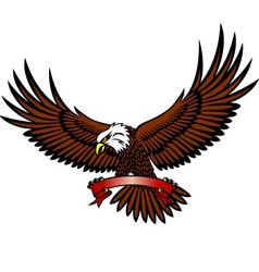 Eagle with emblem vector