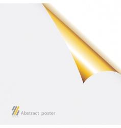 folded edge paper vector image