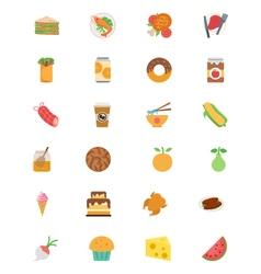 Food flat icons 5 vector