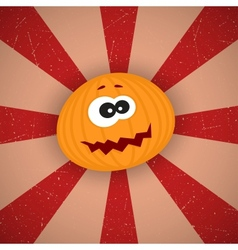 Funny Cartoon Pumpkin vector image vector image