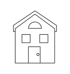 House structure window style outline vector
