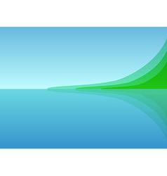 Landscape Sea Shore vector image vector image