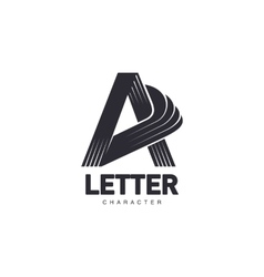 Letter A logo template with three-edged star vector image