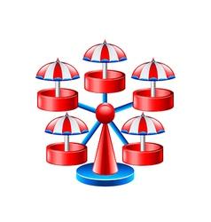 Mini wheel carousel isolated on white vector