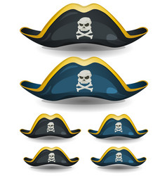 Pirate hat set vector