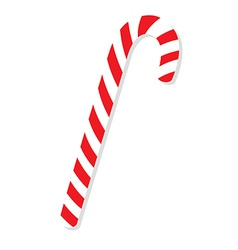 Red christmas candy cane vector image