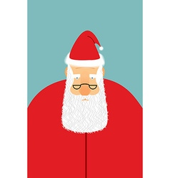 Santa claus is watching you christmas santa with vector