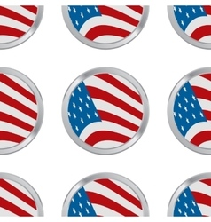 seamless pattern with USA flag vector image
