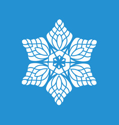 Snowflake icon simple style vector