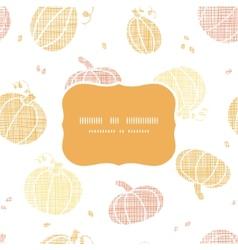 thanksgiving pumpkins textile frame seamless vector image