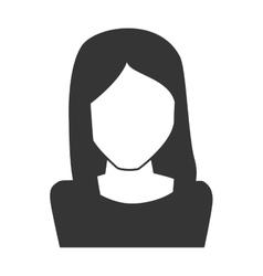 Woman girl female hair straight person face head vector