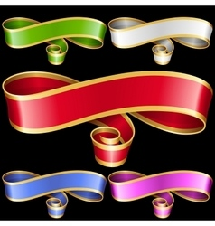 Ribbon frame set vector