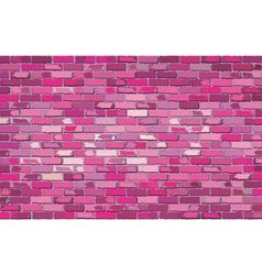 Pink brick wall vector