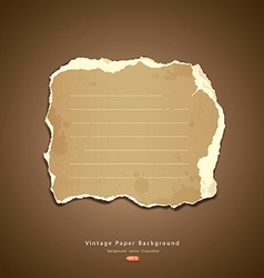 Vintage ripped paper vector