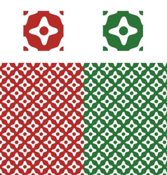 Christmas pattern swatch vector image