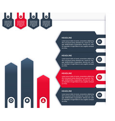 business infographics 1 2 3 4 timeline vector image