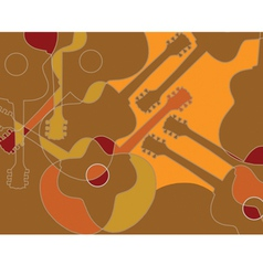 Seamless pattern with acoustic guitar abstract vector