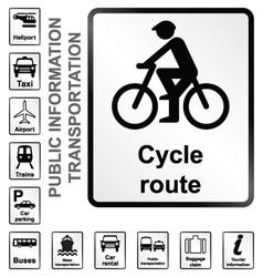Transport Information Signs vector image