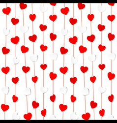 Red and white heart shape pattern background vector