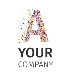 Alphabet particles logotype letter-a vector