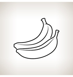 Banana in the contours vector