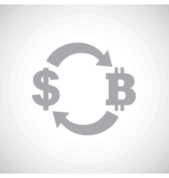 Grey dollar bitcoin exchange icon vector
