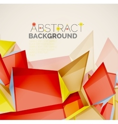 Geometric shapes with sample text abstract vector