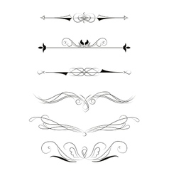 Decorative elements for design vector