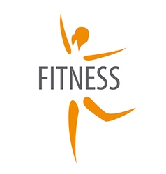 Logo for the dancing girl of fitness club vector