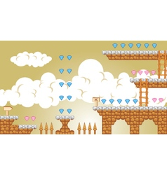 2d tileset platform game 4 vector