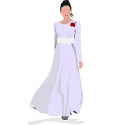 al 0338 bride vector image vector image