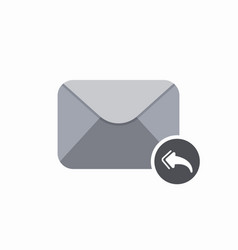 All email envelope mail message reply icon vector