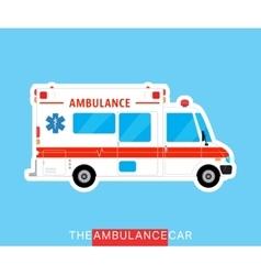 Ambulance bus isolated vector image