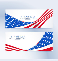 american independence day 4th of july banners vector image