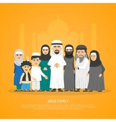 Arab family poster vector