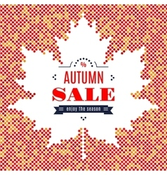 Autumn sale banner fall festival background maple vector