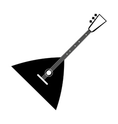 Balalaika black icon vector image