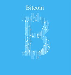 bitcoin digital currency vector image
