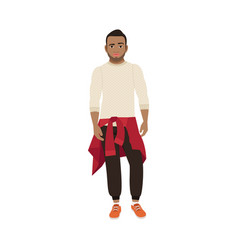 Black guy with knitted sweater vector