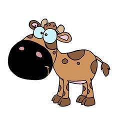 Brown Baby Cow vector image vector image
