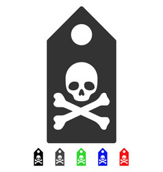 Death mark flat icon vector